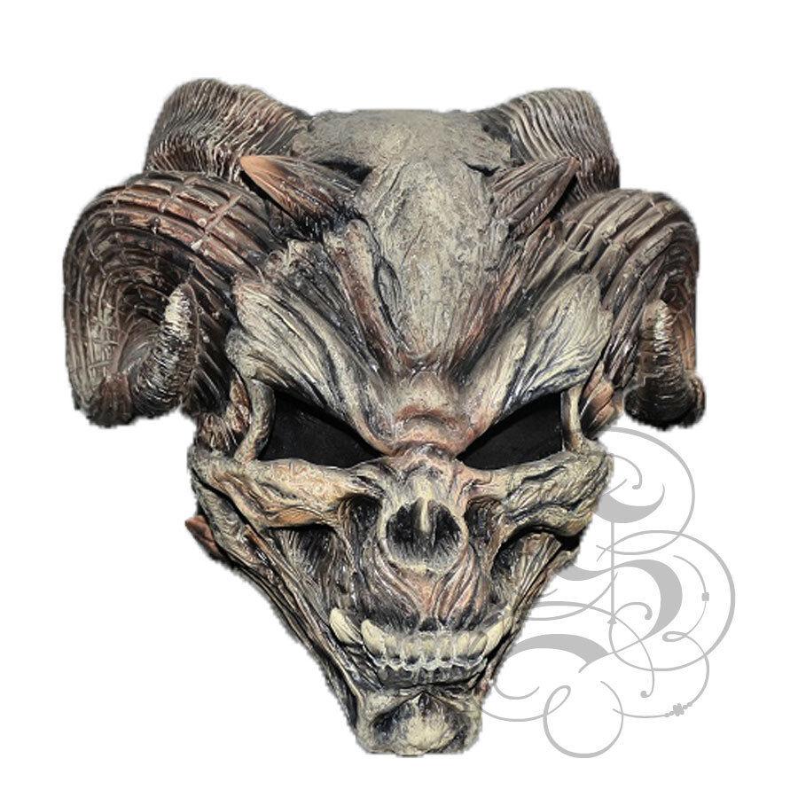 Halloween Latex Night Chronicle Devil Skull Head Costume