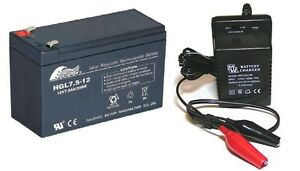 Toy Car Battery And Charger Combo 12v 7 5ah Battery Amp 12