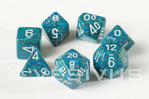 Speckled Earth Blue Dice Set of 7 Chessex