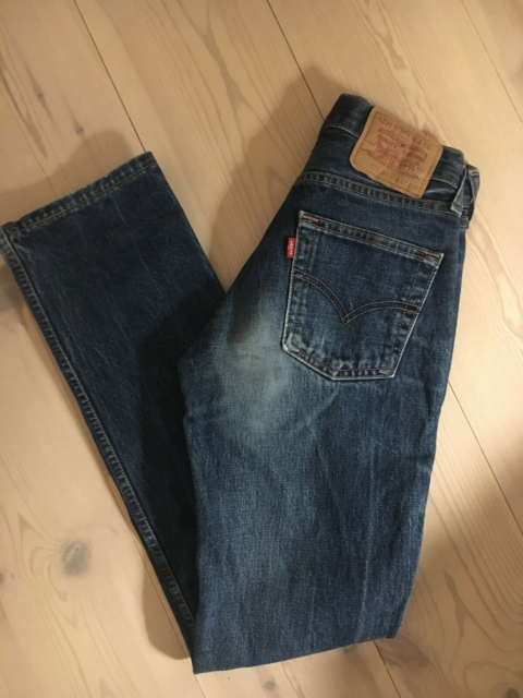 Jeans, Levis , str. 27,  Mørke blå ,  Denim ,  God men…