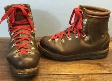Vtg Lowa Mountaineer Alpine Leather Hiking Boots Men 9.5 Brown Made In Germany