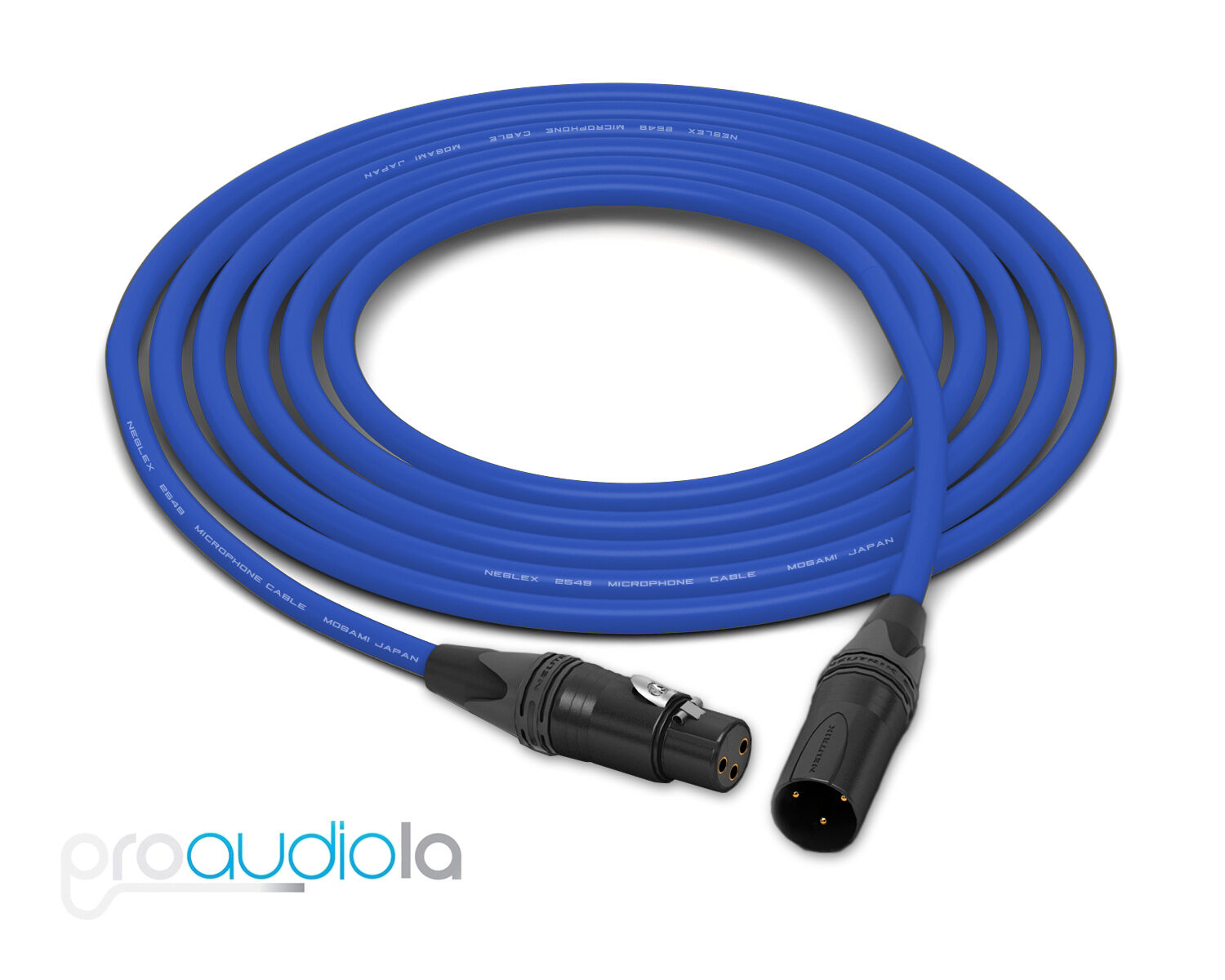 Mogami 2549 Cable   Neutrik Gold XLR-F XLR-M   Blau 75 Feet   75 Ft.   75'