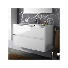 mobile bagno arredo bagno 80 cm sospeso con lavabo bianco lucido