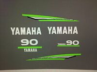 Yamaha 2-stroke 60/70/85/90hp Outboard Lime Green Marine Vinyl Decal Kit