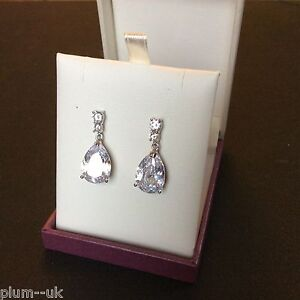p-21-Large-pear-white-sim-diamond-drop-dangle-earrings-silver-white-gold-gf-BOXD