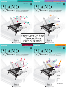 faber piano adventures level 3a four book pack lesson. Black Bedroom Furniture Sets. Home Design Ideas