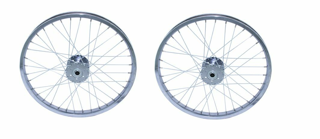20   TRICYCLE REAR STEEL WHEELSET 3 4  BEARING Hollow-Hub Wheel Chrome. wheel set  new listing
