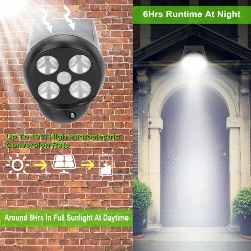 Solar Motion Sensor Outdoor Spotlight Torch Security Light Garden Pathway Porch