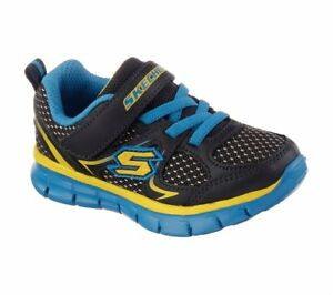 NEW-Skechers-Toddler-Boy-039-s-Synergy-Mini-Dash-Shoes-Navy-Blue-95090N-120O-hr