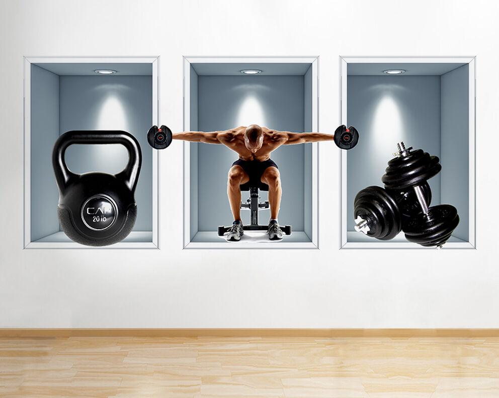 Pesos R828 aptitud del ejercicio Venta pegatina pared vinilo 3d habitación niños