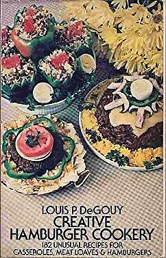 Creative Hamburger Cookery by De Gouy, Louis Pullig-ExLibrary