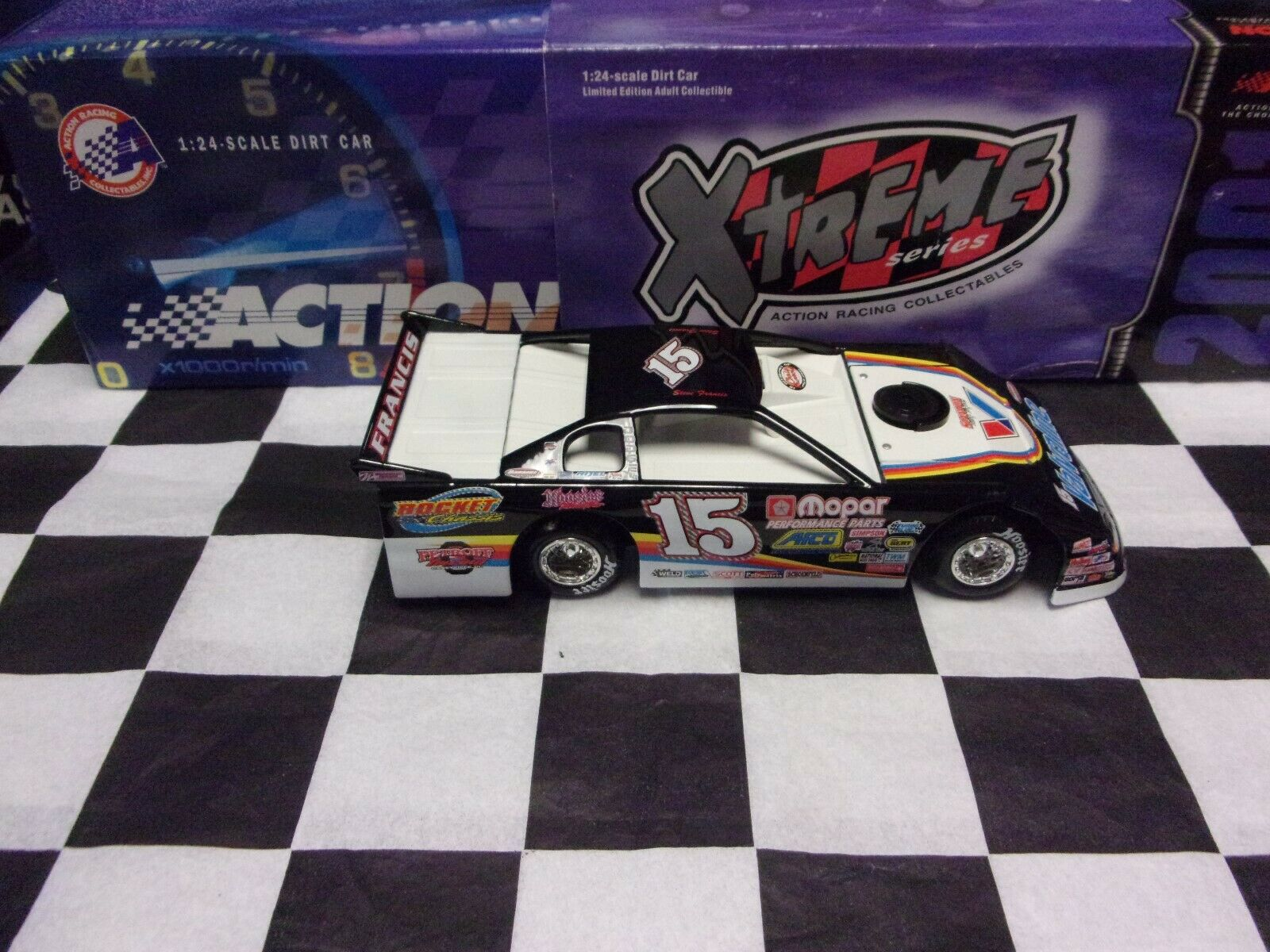 2001  15 Steve Francis Valvoline Action 1 24 Dirt Car Xtreme 101411