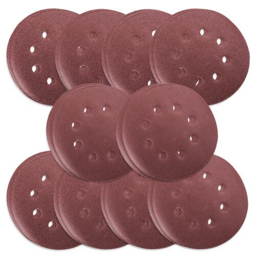 "80pc 125mm 5/"" Sanding Discs Pads 40-400 Mix Orbital Sander Hook Loop Sandpaper"