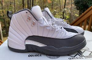Air Jordan Retro 12 White Dark Grey