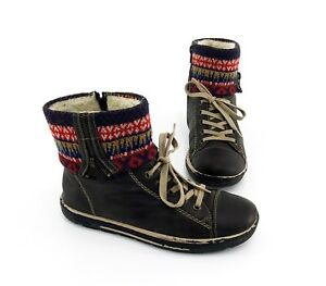 Sneaker-High-Top-Rieker-Winter-Boots-Stiefeletten-Kunstleder-braun-Gr-38