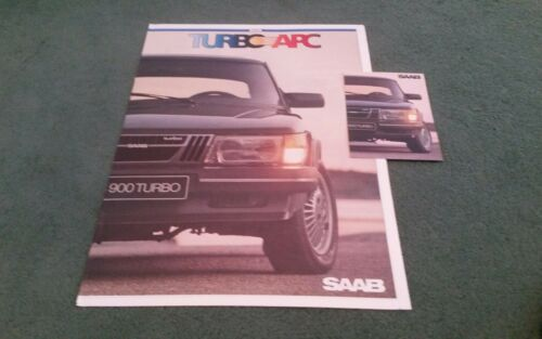 RANGE UK LARGE COLOUR NEWSPAPER BROCHURE 1982 1983 SAAB 900 TURBO APC CARD