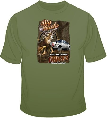 Size Color Up to 4XL 10405 Big Bucks T Shirt You Choose Style