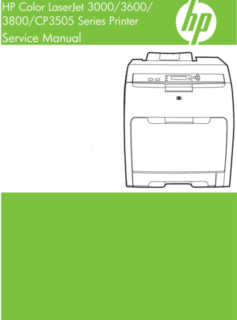 Hp color laserjet 3800 printer manual.