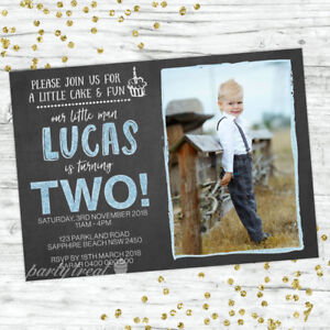 Image Is Loading 2ND BIRTHDAY BOY SECOND PARTY INVITATIONS