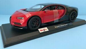 Maisto-Bugatti-Chiron-Sport-2020-Edicion-Especial-Escala-1-18-Nuevo-en-Caja-31718
