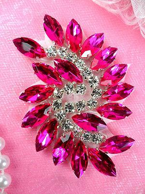 JB234 Marquise Crystal Glass Rhinestone Applique Gunmetal Sewing Craft Supplies