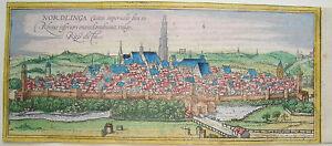 Noerdlingen-Bayern-altkolorierter-Braun-und-Hogenberg-Kupferstich-1580