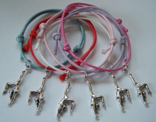 Gymnaste Fête Sac Remplissage bonne chance cadeaux Bracelets concurrence cadeau 6 ou 12