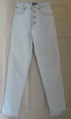 Vtg 80 S Palmetto S Jeans Pants White Wash Size 5 Zig Zag Button Fly Ebay