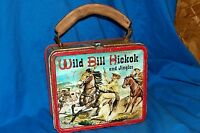 1955 Wild Bill Hickok and Jingles Metal Lunchbox Lunch Box Old Vintage Aladdin &