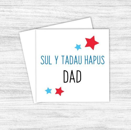 Welsh Fathers Day Card Dad Dadi Tadcu Tadcu Datgu Taid Grandad Sul y Tadau Hapus