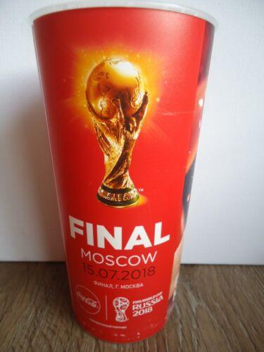 Coca Cola Becher FIFA World Cup Final Russia 2018 Frankreich Kroatien Match 64