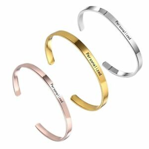 Stainless-Steel-Personalized-Symbol-Letter-Name-Custom-Cuff-Bracelet-Bangle-DIY