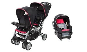 Double Stroller Baby Trend Sit n Stand with One Infant Car ...