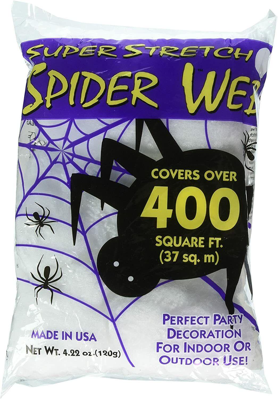 Super Stretch Spider Web Halloween Decoration 400 sq ft