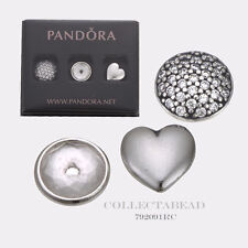 Authentic Pandora Silver April Petites w/ Rock Crystal & Clear CZ 792091RC