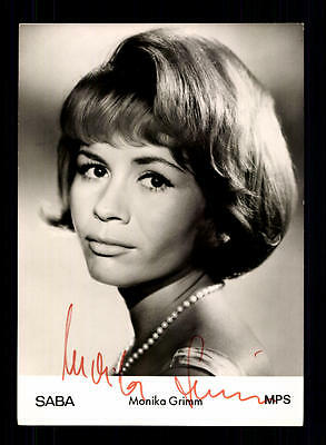 National Monika Grimm Autogrammkarte Original Signiert ## Bc 80938 Warm Und Winddicht