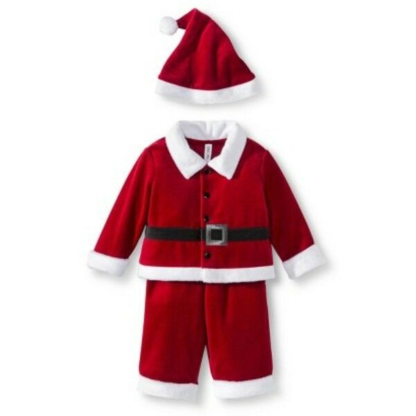 baby boys christmas 3 pc red velvet santa suit outfit size nb newborn infant ebay