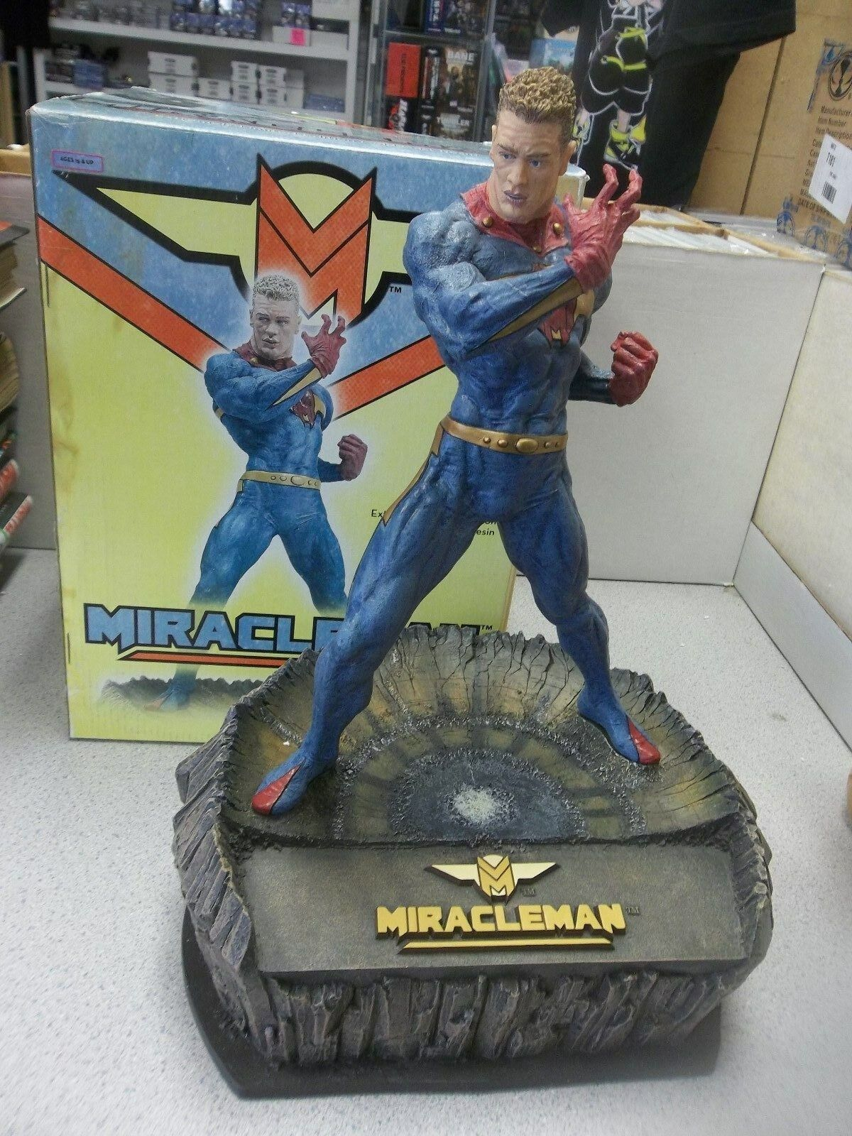 MIRACLEMAN 12  statue figurine w  base McFARLANE Toys cold cast resin statue
