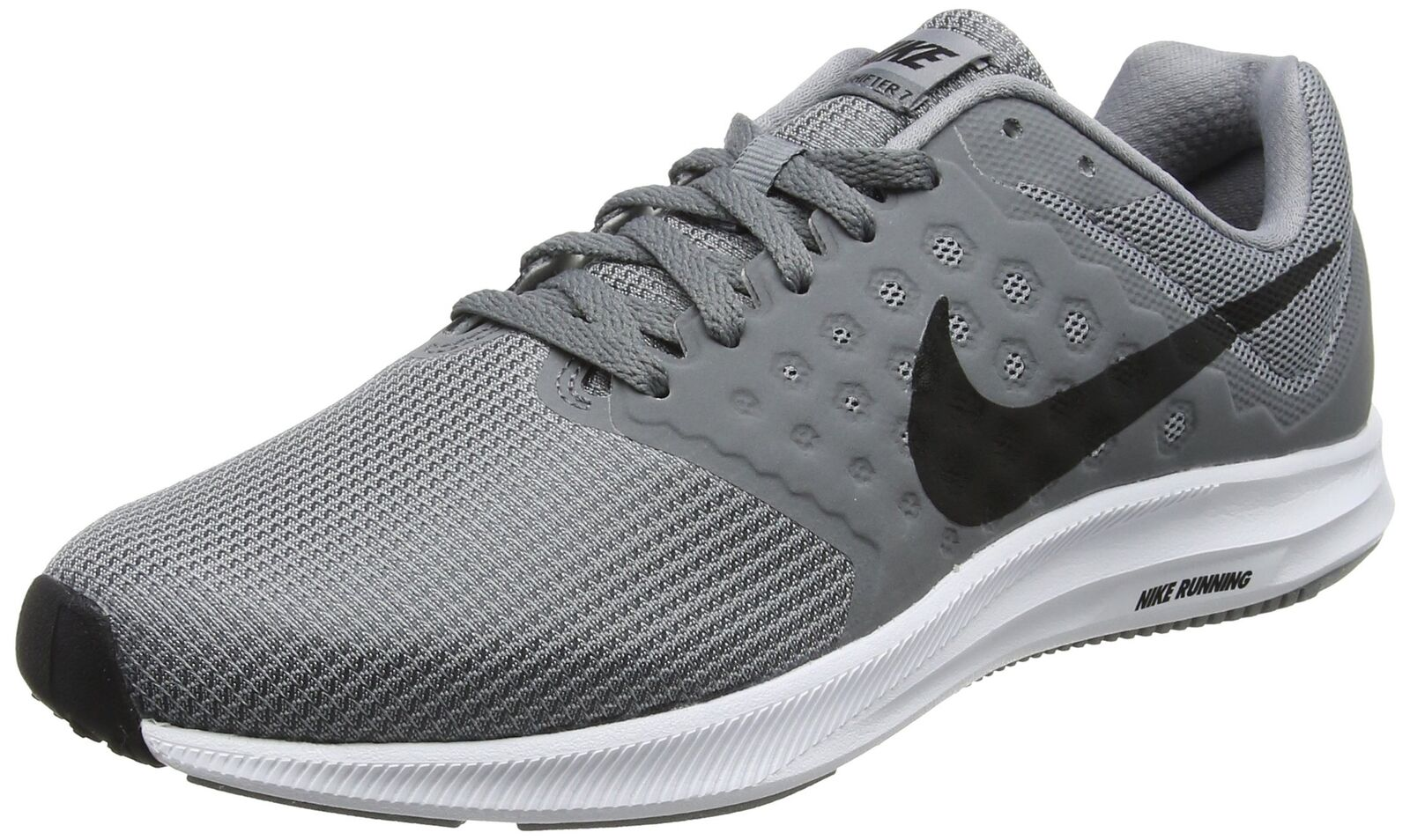 NIKE Men's Downshifter 7 Running shoes Stealth Black Cool Grey White Size 8 M US