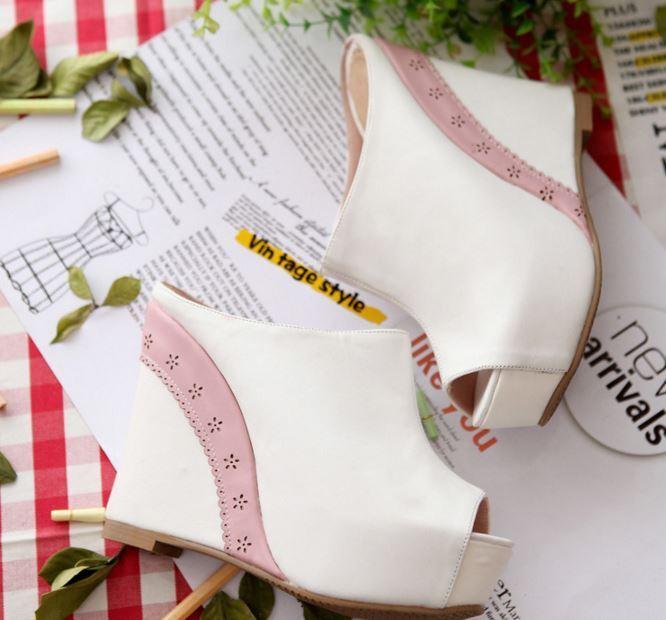 Último gran descuento Scarpe ciabatte sabot sandali zeppa plateau 13.5 cm bianco comodi eleganti 9298