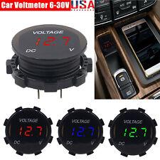 Dc 12v 24v Car Motorcycle Led Digital Voltage Meter Display Voltmeter Gauge Us