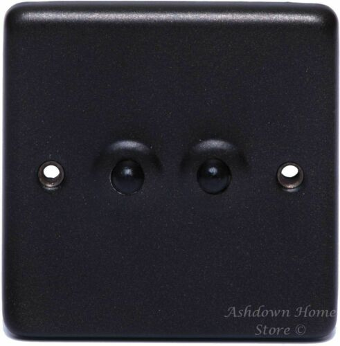 G/&H CG282 Standard Plate Graphite 2 Gang 1 or 2 Way Toggle Light Switch