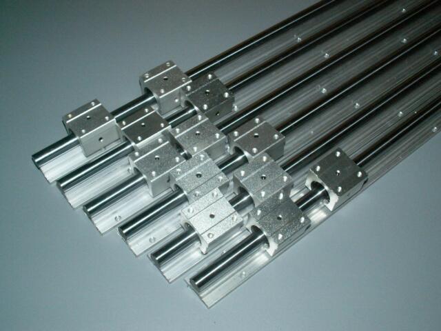 12mm SBR12-200//400//600MM Linear Slide shaft 2 rail+12 SBR12UU Bearing Block CNC