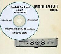 Hp Hewlett Packard 8403a Modulator Operating & Service Manual