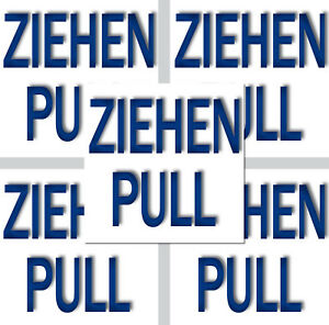 5-Autocollant-Sticker-Tirer-Pull-Porte-Fenetre-Interrupteur-Levier-Indication