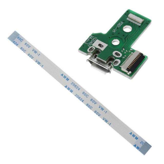 USB Charging Port Board With 12 Pin Flex Cable For JDS-030 PS4 Controller sq