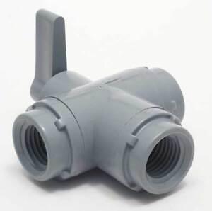 ZORO-SELECT-6900190-1-4-034-FNPT-PVC-Ball-Valve-3-Way