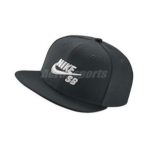 f50c707b8d837 Details about Nike Logo SB Icon Pro Cap Black White Adjustable Hat Snapback  Skateboarding