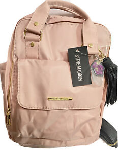 NWT-Steve-Madden-Blush-Nylon-Backpack-Btammy-Booksack-Bag-Purse