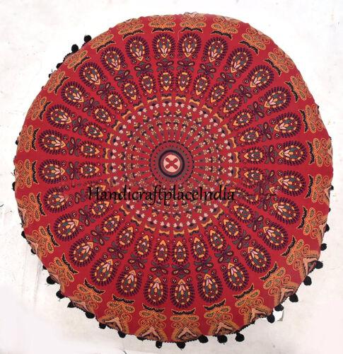"32/"" Gift Floor Pillow Cover Cotton Mandala Large Pouf Sham Cushion Meditation"